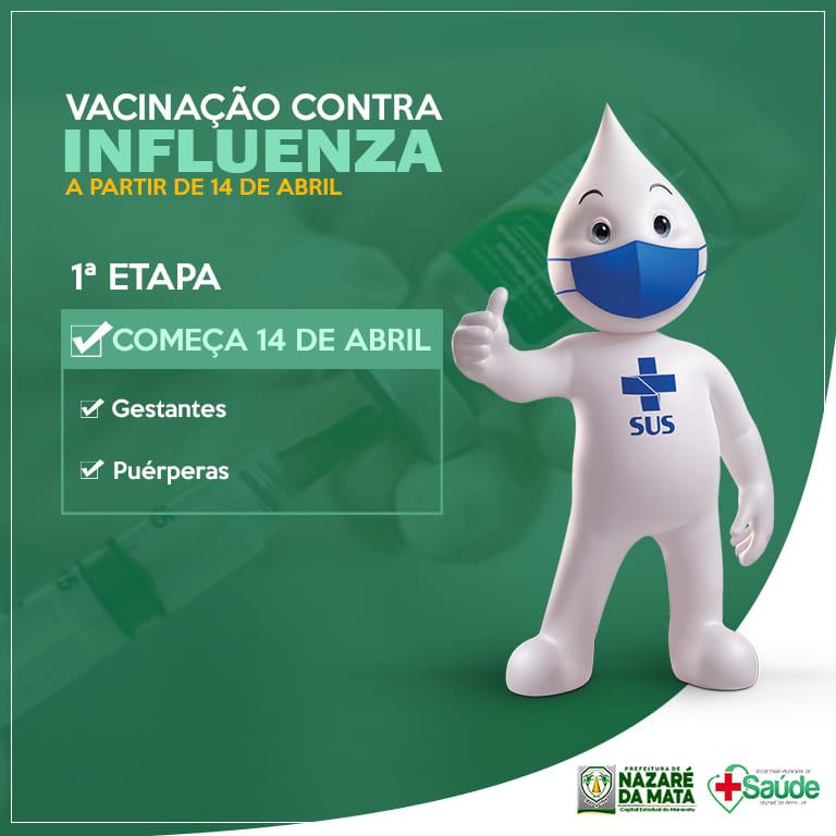 Começa nesta quarta feira a vacinação contra influenza.