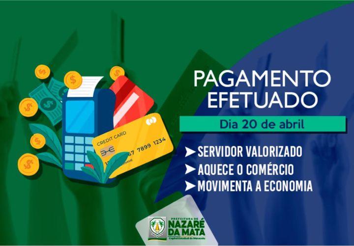 Prefeitura depositou hoje (20), folha de pagamento dos funcionários