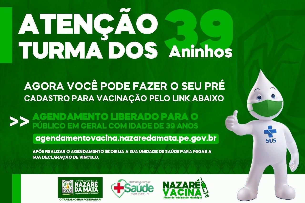 ATENÇÃO TURMA DOS 39 ANINHOS