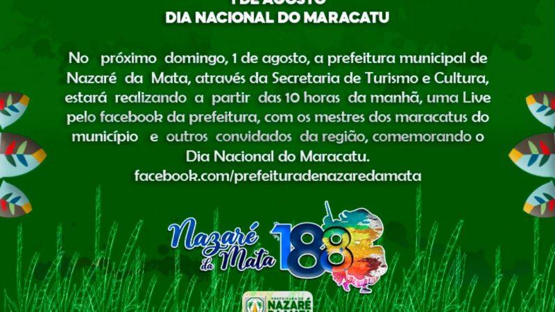 Prefeitura de Nazaré da Mata comemora Dia Nacional do Maracatu numa 'Live' no Domingo