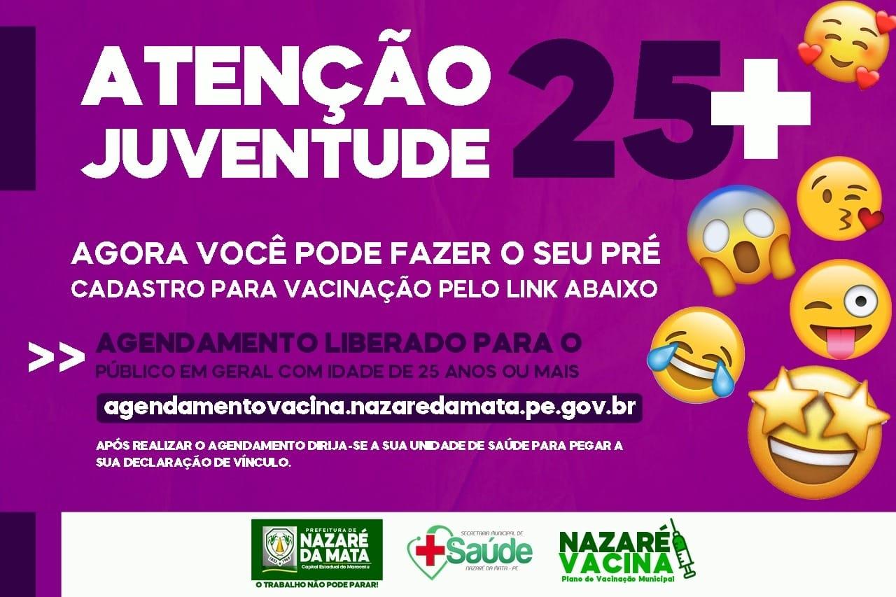 ATENÇÃO JUVENTUDE 25+