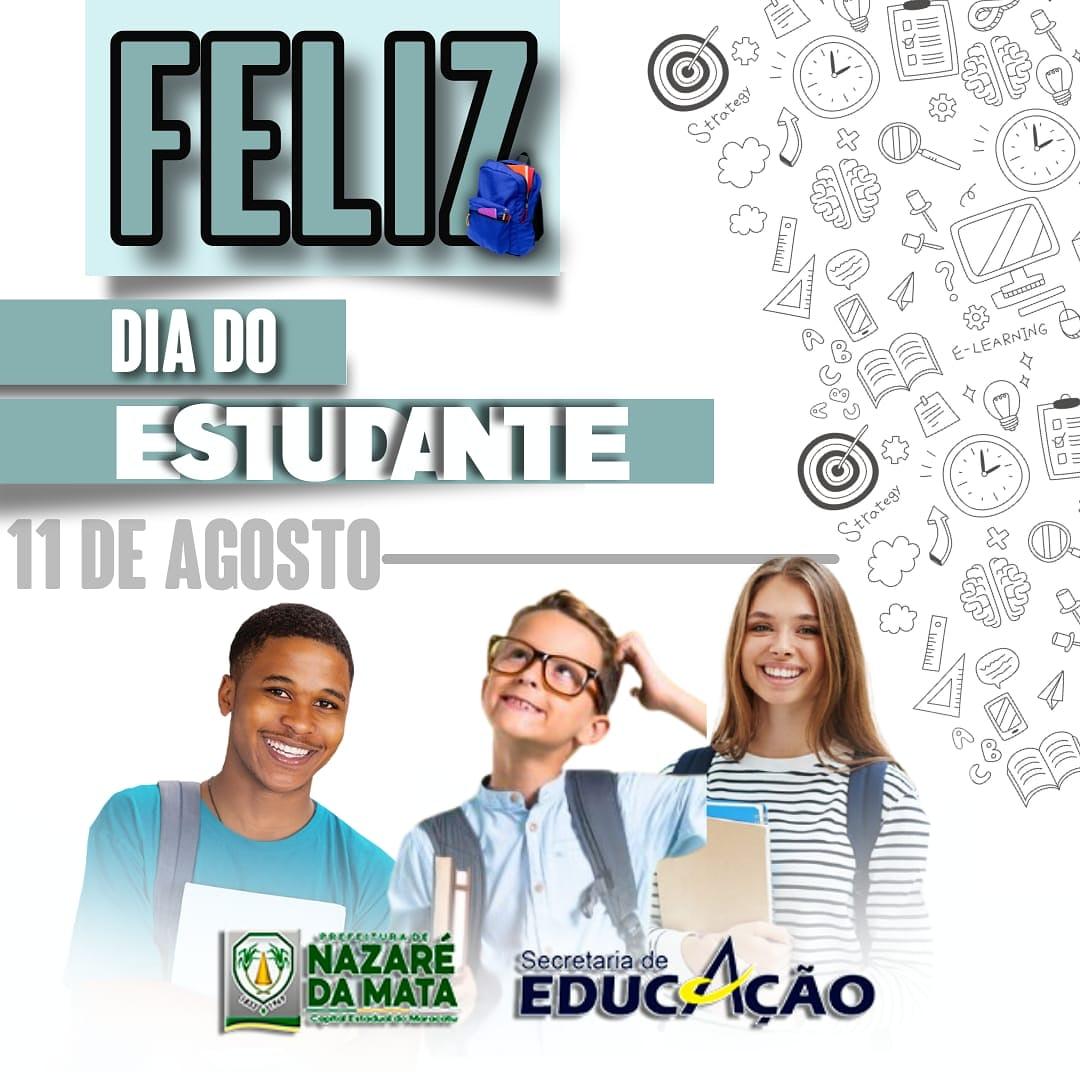 Feliz dia dia do estudante !